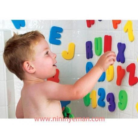 حروف و اعداد چسبانكي مخصوص حمام munchkin