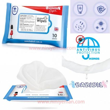 دستمال آنتی ویروس و آنتی باکتری babisil