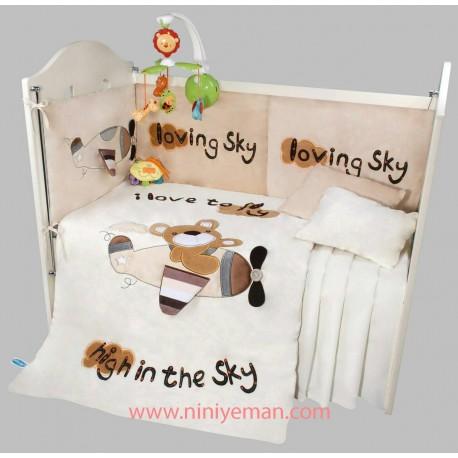 سرویس خواب روتختی خرس و هواپیما playgro