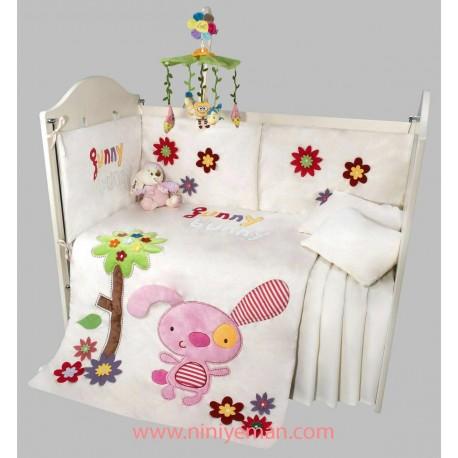 سرویس خواب روتختی نوزادی خرگوش گانی بانی playgro